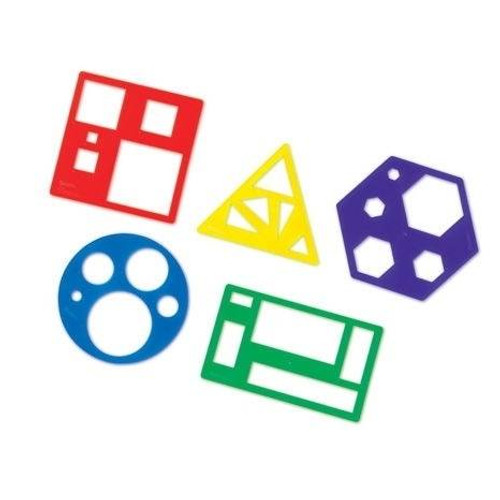 Learning Resources Primary Shapes Template Set by Learning Resources