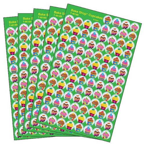 Trend Enterprises Inc 2500 TREND Bake Shop superSpots Cupcake Reward Stickers