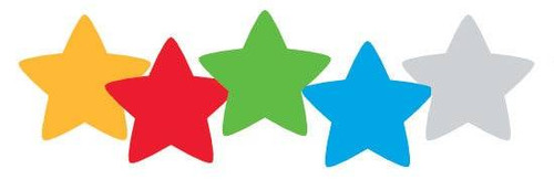 Trend Enterprises Inc 400 Colourful Foil Reward Stars SuperShapes Stickers