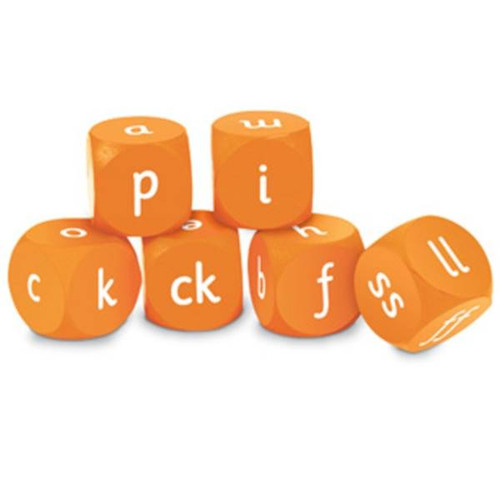 Learning Resources Learning Resources 6 Soft Foam Letters and Sounds Phase Two Cubes