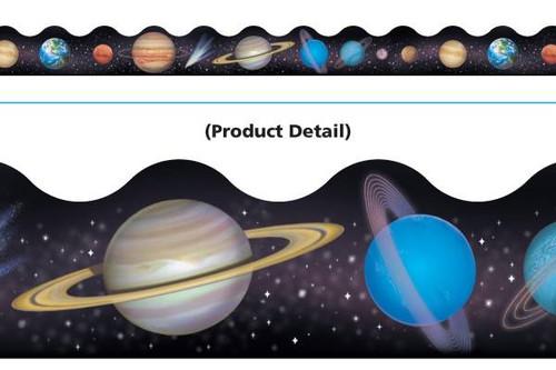 Trend Enterprises Inc Classroom Trimmers Notice Board Display Borders - Solar System