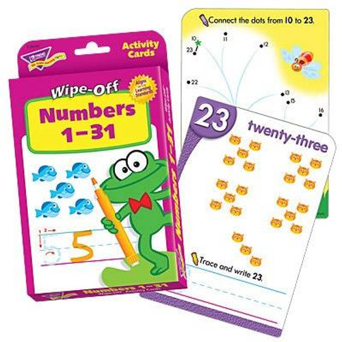 Trend Enterprises Inc Numbers 1-31 Wipe Off Educational Activity Game Cards
