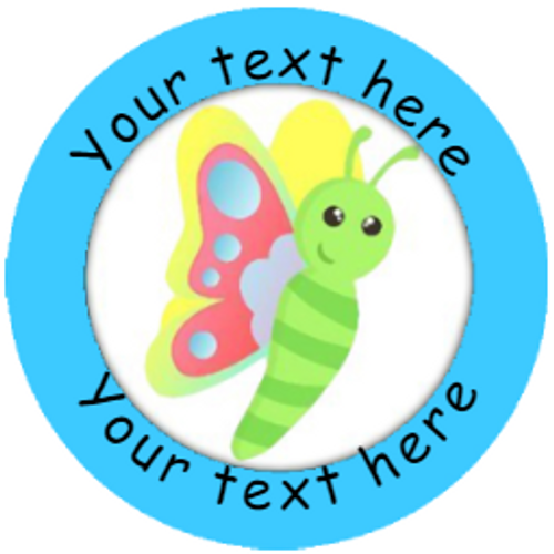 Sticker Stocker 144 Personalised Summer Bugs 30mm Reward Stickers for School Teachers, Parents and Nursery