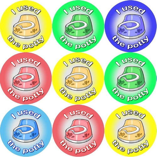 Sticker Stocker 144 Potty Rewards 30mm Toilet Training Reward Stickers for Teachers or Parents