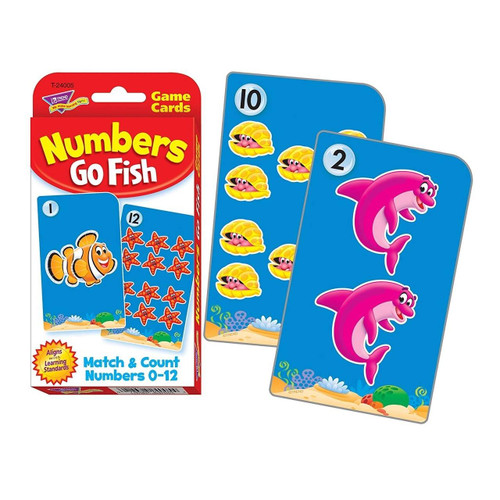 Trend Enterprises Inc Teaching Numbers 0-12 Go Fish Match and Count Game Challenge Flash Cards