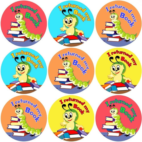 Sticker Stocker 144 I Returned my Book 30mm Reward Stickers for Teachers or Parents