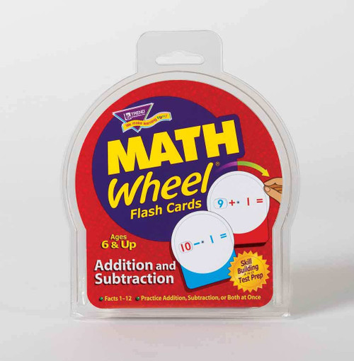 Trend Enterprises Inc Trend MATHS WHEEL Addition and Subtraction Flash cards