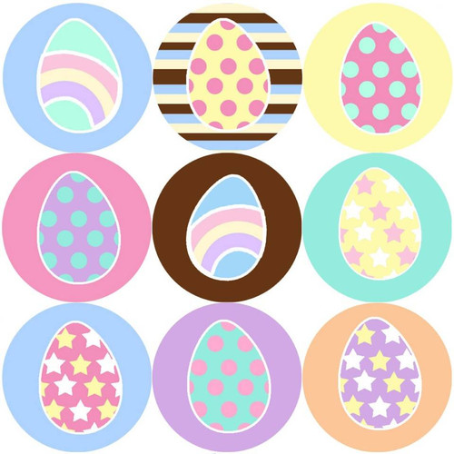 Sticker Stocker 144 Easter Eggs 30mm Reward Stickers for Teachers, Parents and Spring Party Bags