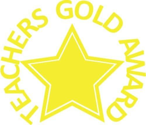 Trend Enterprises Inc Teachers Gold Award - Self inking teacher reward xstamper xclamations stamp