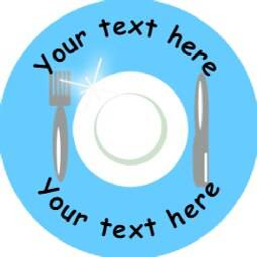 Sticker Stocker 144 Clean Plate Personalised 30 mm Reward Stickers for School Teachers, Parents and Nursery