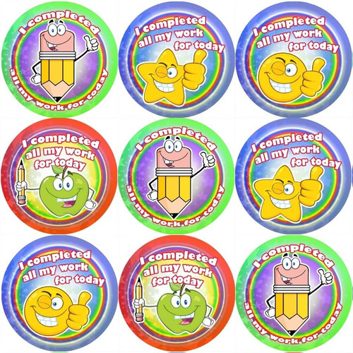 Sticker Stocker 144 I Completed all my Work 30mm Reward Stickers for School Teachers and Parents