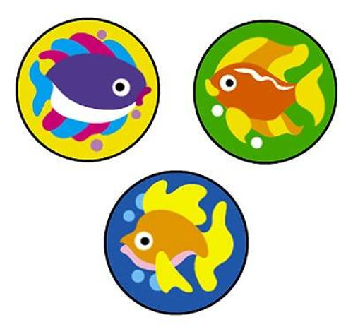 Trend Enterprises Inc 800 Fabulous Fish SuperSpots mini reward Stickers