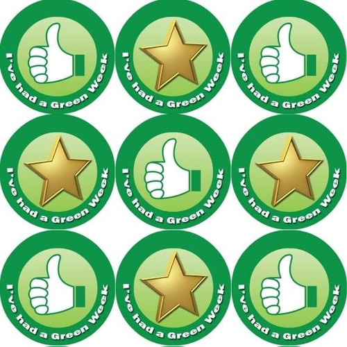 Sticker Stocker 144 Green Week Its Good to be Green 30mm Childrens Reward Stickers for Teachers or Parents