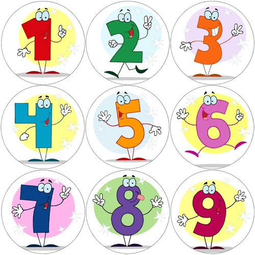 Sticker Stocker 144 Numbers 30 mm Maths Reward Stickers for School Teachers, Parents and Nursery