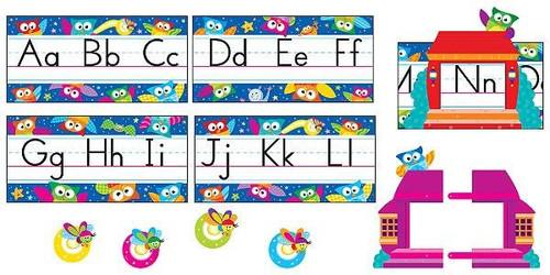 Trend Enterprises Inc Owl Stars Alphabet Line Classroom Display Set