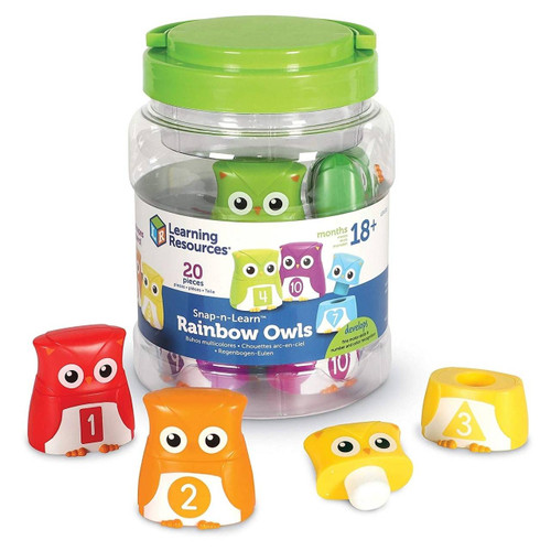 Learning Resources Learning Resources Snap-n-Learn Rainbow Owls