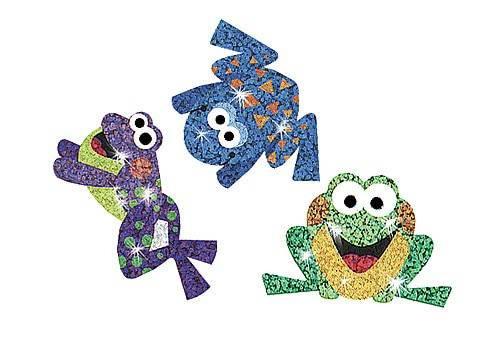 Trend Enterprises Inc 72 Frog Fun Sparkle Reward Stickers
