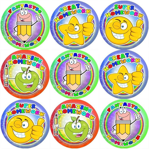 Sticker Stocker 144 Fantastic Homework 30mm Stickers for Teachers, Parents and Party Bags