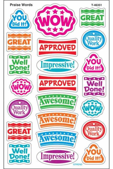Trend Enterprises Inc 176 Praise Words superShapes Teacher Reward Stickers