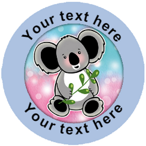 Sticker Stocker 144 Personalised Koala Bears 30mm Reward Stickers for School Teachers, Parents and Nursery