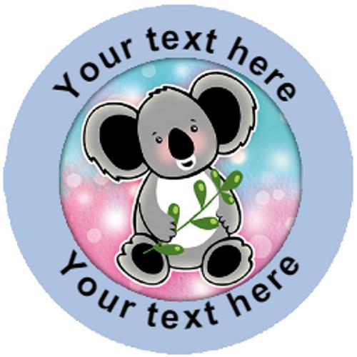 Sticker Stocker 144 Personalised Koala Bears 30mm Reward Stickers for School Teachers, Parents and Nursery