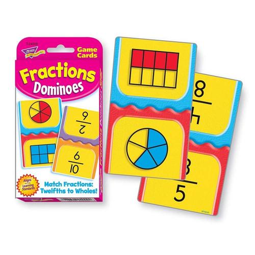 Trend Enterprises Inc Trend Teaching Fractions Dominoes Challenge Cards Pocket Cards