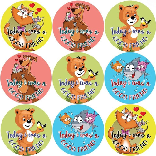 Sticker Stocker 144 Today i was a Good Friend 30mm Reward Stickers for Teachers or Parents