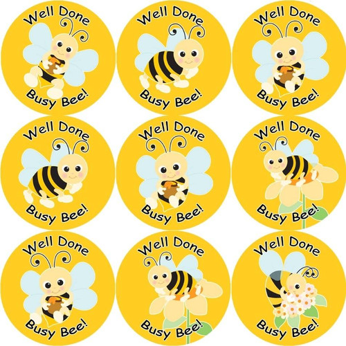 Sticker Stocker 144 Busy Bee 30 mm Reward Stickers for School Teachers, Parents and Nursery