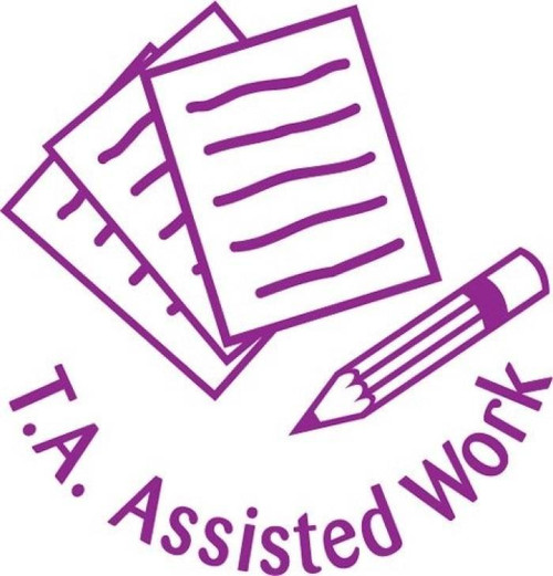 XStamper TA assisted work - Self inking teacher reward xstamper xclamations stamp