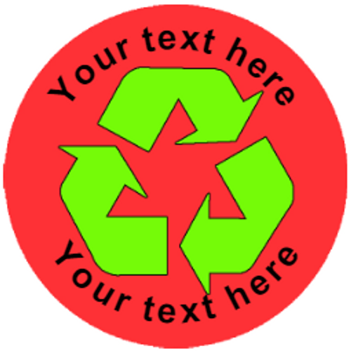 Sticker Stocker 144 Recycle Personalised 30mm Reward Stickers for School Teachers, Parents and Nursery