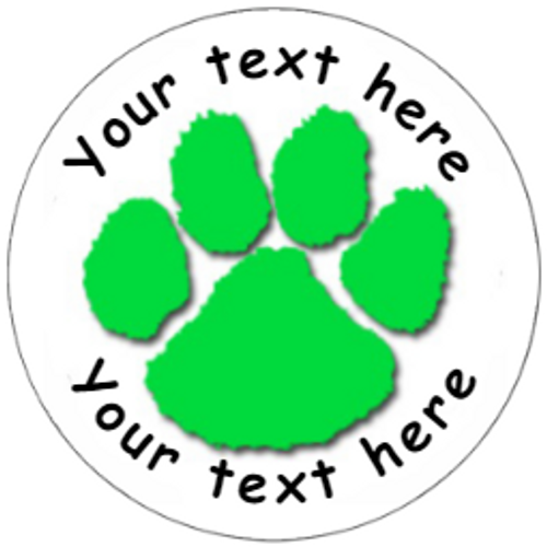 Sticker Stocker 144 Personalised Paw Prints 30 mm Reward Stickers for School Teachers, Parents and Nursery