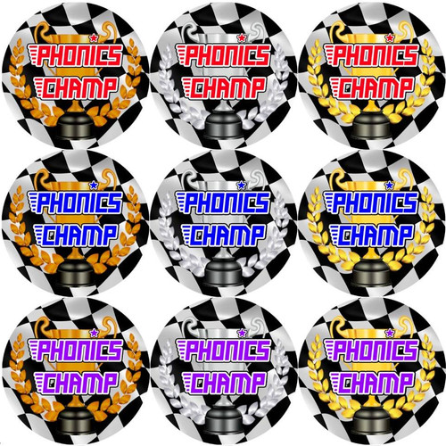 Sticker Stocker 144 Phonics Champ 30 mm Reward Stickers for School Teachers, Parents and Nursery