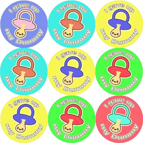 Sticker Stocker 144 I Gave up my Dummy on 30mm Stickers for Teachers, Parents and Party Bags