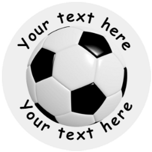 Sticker Stocker 144 Personalised Football 30mm Reward Stickers for School Teachers, Party Bag, Parents and Nursery