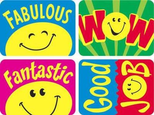 Trend Enterprises Inc TREND 100 Large Smiley Faces Applause reward stickers 1