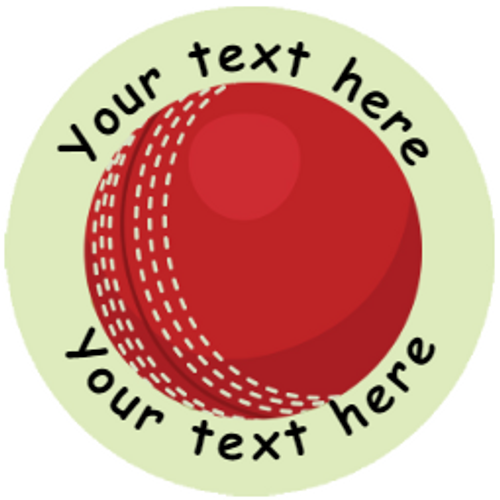 Sticker Stocker 144 Personalised Cricket 30mm Reward Stickers for School Teachers, Party Bag, Parents and Nursery