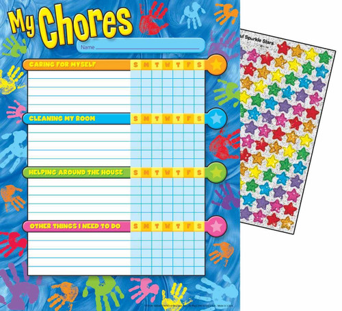 Trend Enterprises Inc 25 Helping Hands Chore Reward Charts and 100 Reward Stickers