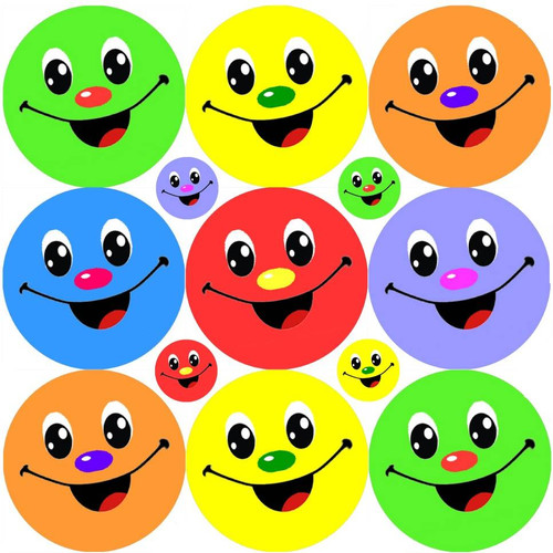 Sticker Stocker 234 Colourful Smiles Reward Stickers for School Teachers, Parents and Nursery
