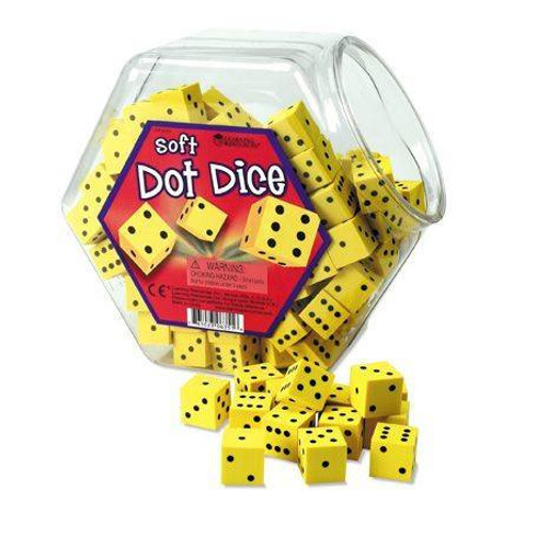 Learning Resources Tub of 200 16mm Childrens Soft Maths Dot Dice by Learning Resources