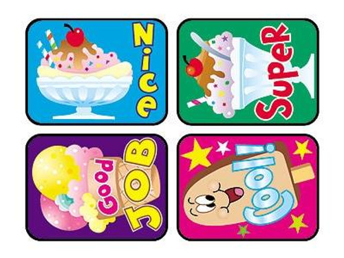 Trend Enterprises Inc TREND 100 Large Cool Treats Applause reward stickers