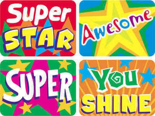 Trend Enterprises Inc TREND 100 Large Stars Applause reward stickers
