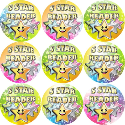 Sticker Stocker 144 5 Star Reader 30 mm Reward Stickers for Teachers, Parents and Party Bags