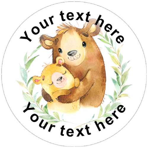 Sticker Stocker 144 Personalised Bear Hug 30mm Reward Stickers for Teachers, Party Bag, Parents