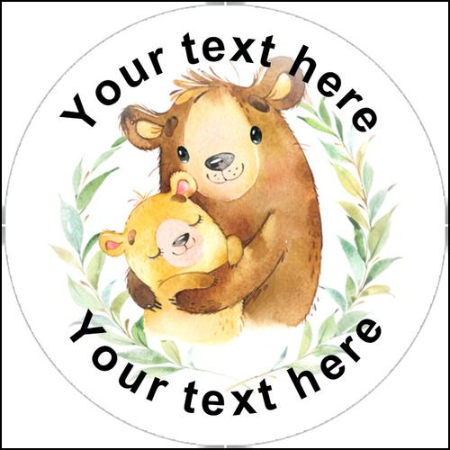 Sticker Stocker 144 Personalised Bear Hug 30mm Reward Stickers for Teachers, Party Bag, Parents