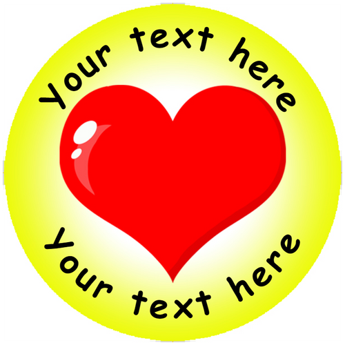 Sticker Stocker 144 Heart Personalised 30 mm Reward Stickers for School Teachers, Parents and Nursery