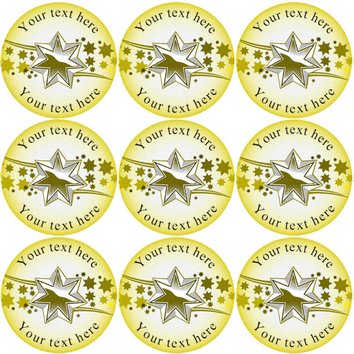 Sticker Stocker 144 Gold Star Personalised 30 mm Reward Stickers for School Teachers, Parents and Nursery