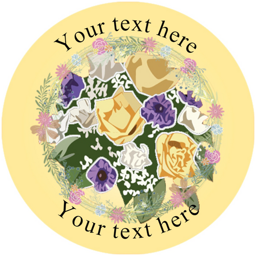 Sticker Stocker 144 Flowers Personalised 30 mm Reward Stickers for School Teachers, Parents and Nursery