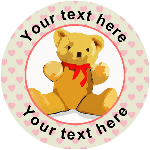 Sticker Stocker 144 Personalised Teddy Bear 30mm Reward Stickers for Teachers, Party Bag, Parents