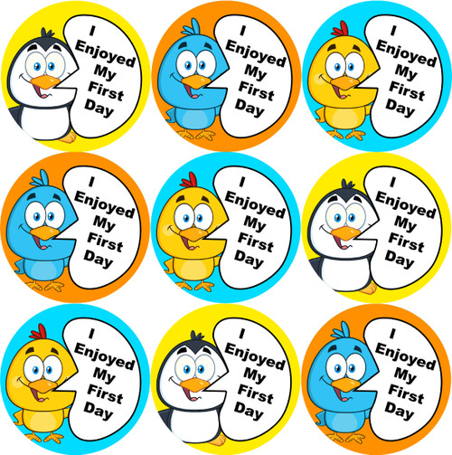 Sticker Stocker - 144 I Enjoyed My First Day 30mm Introduction Stickers for Teachers and groups