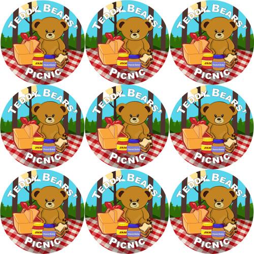 Sticker Stocker - 144 Teddy Bears' Picnic 30mm Stickers for School Teachers, Parents and Nursery